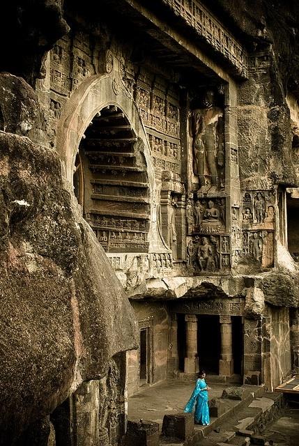 Пещерата Ajanta в Aurangabad, Индия