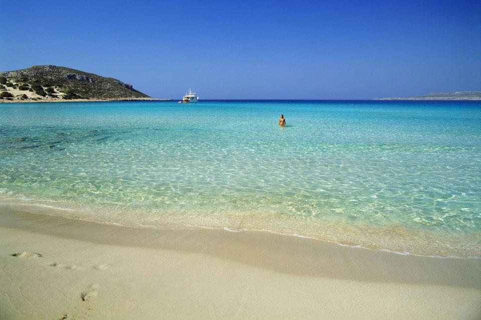 Плажът Симос (Simos Beach) на остров Елафонисос