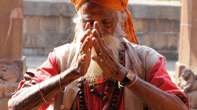 Намасте, Индия