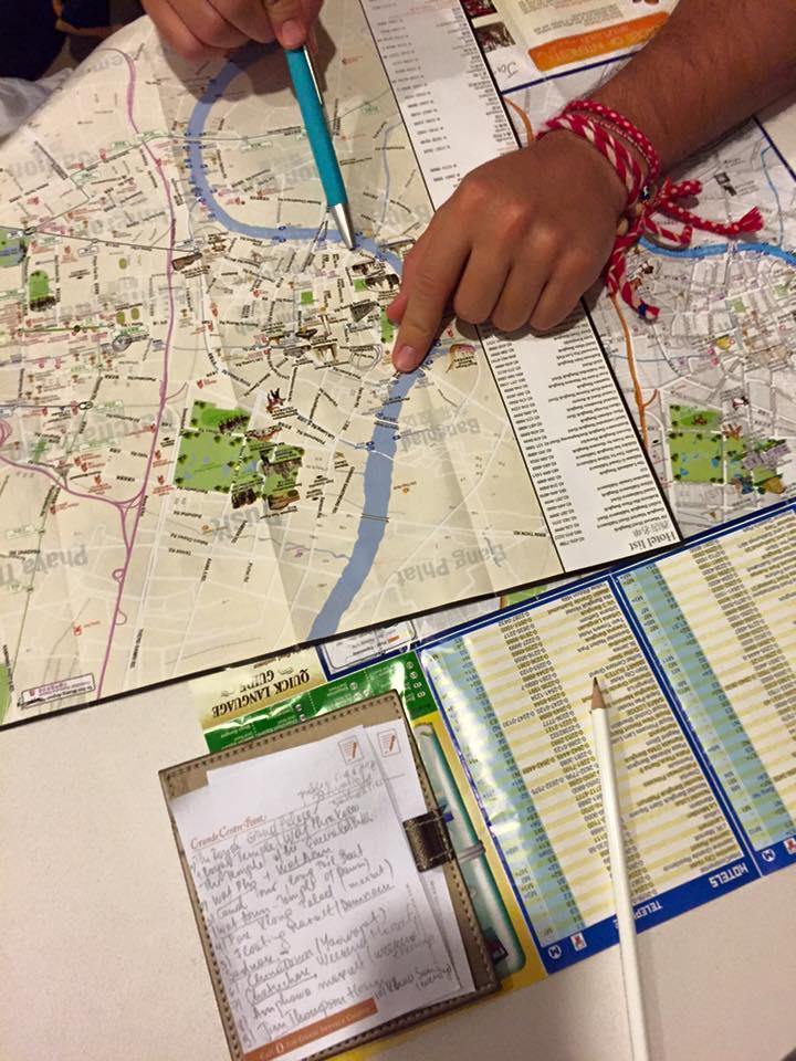 Travel map Bangkok
